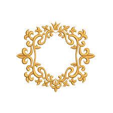 antique frame border. Monogram Border Embroidery Design. Frame Swirl Embroidery. Antique Frame. Royal Border. Crown. Victorian From AnnaEmbDesign