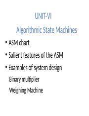 Unit6asm Ppt Unit Vi Algorithmic State Machines Asm