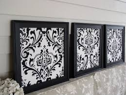 Damask Memo Board FRAMED MEMO BOARDS Magnetic Set of 100 in Black and White Damask 40