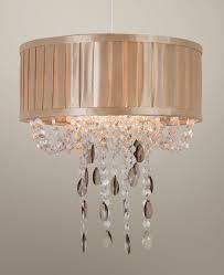brittany champagne pleated drum pendant light shade acrylic decoration sunset lighting