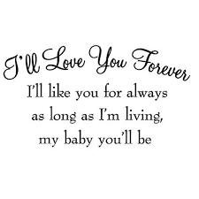 I Ll Love You Forever Quotes Gorgeous Amazon VWAQ I'll Love You Forever I'll Like You For Always As