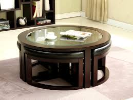 beautiful wonderful round coffee table seats underneath cocktail with 4 storage ottomans s