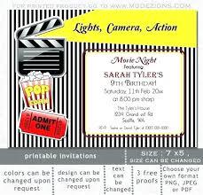 Movie Night Invitation Template Free Movie Night Invitation Template Free Beautiful Movie Night Party