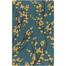 marigold ine teal 3 ft x 5 ft indoor area rug