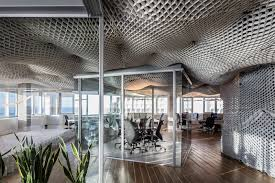 Office ceilings Gypsum Board Meshed Cloud Office Ceilings Trend Hunter Meshed Cloud Office Ceilings Office Ceiling
