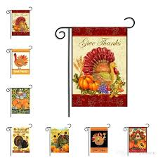 thanksgiving garden flag banner turkey party home decor outdoor hanging polyester flags day decorations from china outdoor flags house