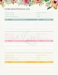 Home Maintenance And Warranty Tracker Home Management Folder Etsy