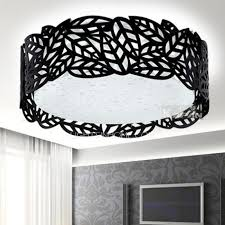 large flush mount ceiling light and black drum 7 8