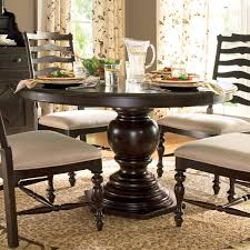 brown round dining table pertaining to pedestal kitchen room excellent fresh inspirations 4