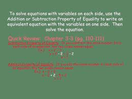 chapter 7 lesson 1 solving equations with variables on each side pgs