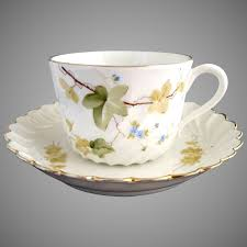 italian fine porcelain tea cup and saucer hand painted ginori victoria s curio ruby lane