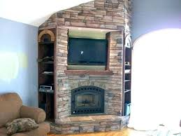 stone fireplace with above ideas corner designs fireplaces design tv stand canadian tire