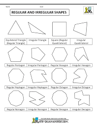 Regular and Irregular Shapes ...