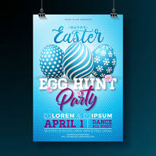 Easter Party Flyer With Poster Template Vectors 09 Free Download