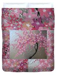 japanese cherry blossom duvet cover collage for by