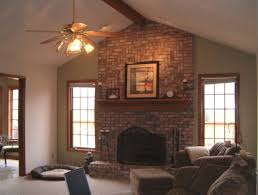 red brick fireplace living room designs coryc me