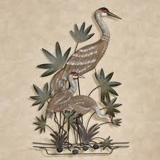 animal metal wall sculptures touch of class with regard to cur heron metal wall art