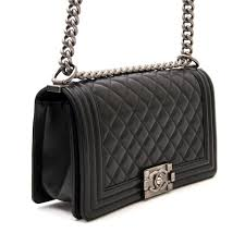 Labellov Chanel Black Medium Quilted Boy Bag ○ Buy and Sell ... & More Views Adamdwight.com