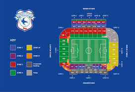 Uk Football Seating Chart Stadium Map Cardiff