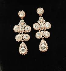 chandelier rose gold earrings wedding earrings bridal earrings chandelier earrings teardrop rhinestone earrings wedding jewelry
