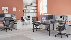 shared office layout. Black Aeron Chairs At Aa Variety Of Layout Studio Individual Workstations In A Shared Office Space L