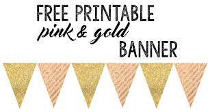 Free Printable Banners Pink And Gold Banner Free Printable Paper Trail Design