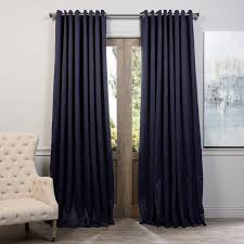exclusive fabrics extra wide thermal blackout grommet top 96 inch curtain panel