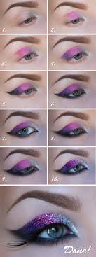 makeup ideas for prom galaxy glitter eye makeup these are the best makeup ideas