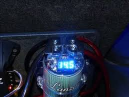 lanzar lqcap farad volt power capacitor lanzar lq19cap 1 9 farad 12 volt power capacitor