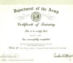 certificate of promotion template army certificate of training template aesthetecurator com