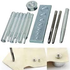 11pcs leather craft tool punch snap rivet setter kit diy leathercraft tools cod