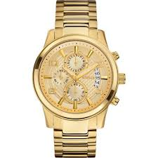 w0075g5 gold watch 44mm 10 guess w0075g5 mens watch chronograph gold stainless steel band