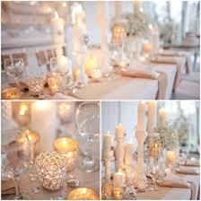 glamorous candle wedding centerpieces