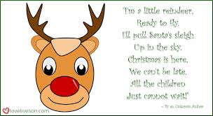 poems for children i m a little reindeer by an unknown author