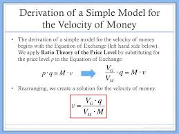derivation of velocity of money model