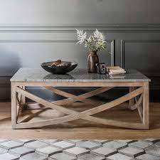 lily coffee table with a marble natural