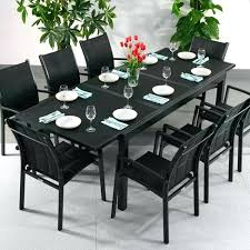 8 seat patio dining set outstanding 8 table and chairs modern large metal weatherproof black glass