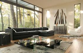 living room furniture spaces inspired: ravishing living room decor with black sofa and coffee table