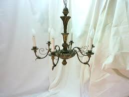 wood and iron chandelier white wood beads and iron basket chandelier