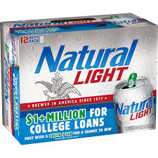 Pack Of Natty Light Natural Light Beer 12 Pack 12 Fl Oz Cans Walmart Com
