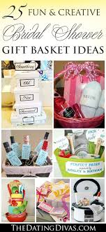 so many fun and creative bridal shower gift basket ideas must pin