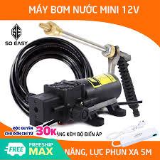 ⭐Máy rửa xe mini Máy Bơm Rửa Xe đa năng Máy rửa xe gia đình Máy Bơm Nước Mini  12V Tăng Áp Lực Rửa Xe Máy Ô Tô tưới cây tiết kiệm