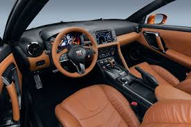 nissan skyline r35 interior. changes abound in the cabin where a redesigned steering wheel is more switchheavy nissan skyline r35 interior e