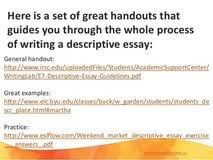 descriptive essay marketplace med school sample essays write a descriptive essay place sample reentrycorps