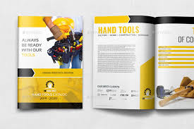 Flyer Template For Pages Hand Tools Products Catalog Brochure Template 24 Pages