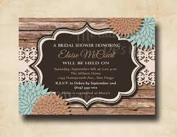 Cheap Rustic Wedding Shower Invitations
