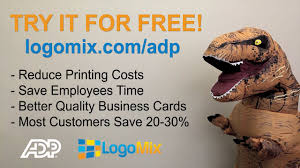 Business Cards Made Easy Logomix Business Card App For Adp