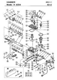 Hitachi h65sa parts schematic