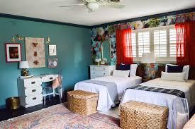 Shared Bedroom Vintage Eclectic Garden Inspired Shared Girls Bedroom Domicile 37