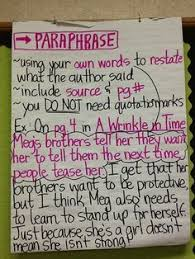 Citing Evidence Anchor Chart Citing Evidence And Paraphrasing Lessons Tes Teach